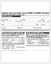 Sample Diabetis Service Order Form Free Download