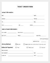 Sample Event Order Information Template Free Download