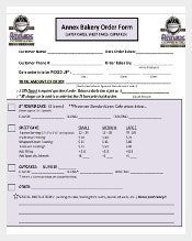 Sample Bakery Order Form Free Download