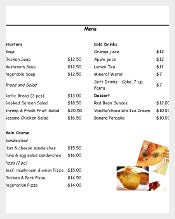 Restaurant Food Order Form Free Template