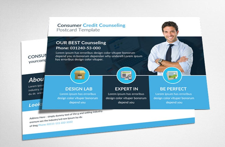 consumer credit counseling postcard for mac