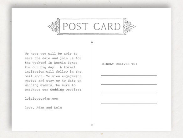 Postcard Templates For Mac  Free Sample Example Format