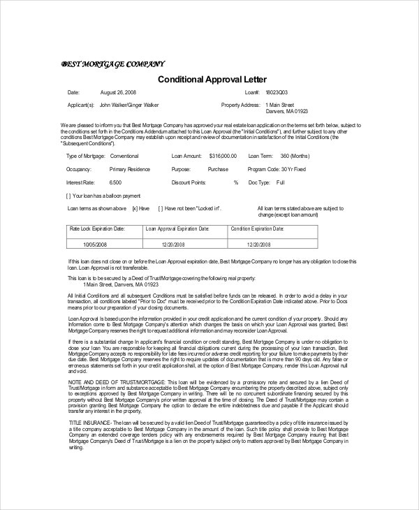 Approval Letter Template - 7+ Free Word, PDF Documents Download ...