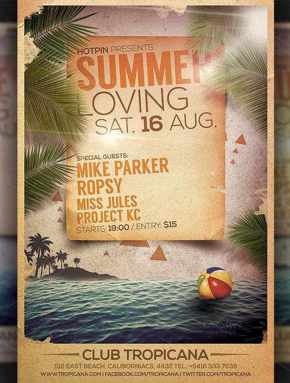 summer party flyer template psd format download1