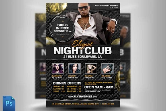 nightclub party flyer template psd download