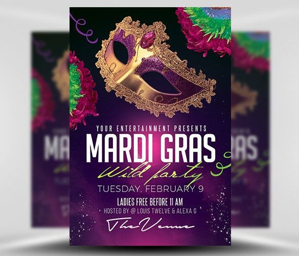 mardi gras party flyer template psd design downloa11