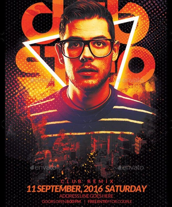 dubstep party flyer template psd download11