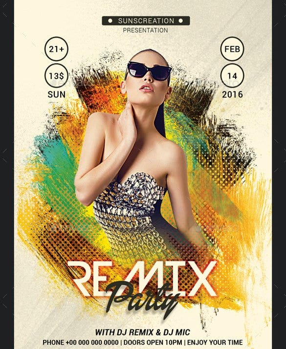 premium remix party flyer template psd download11