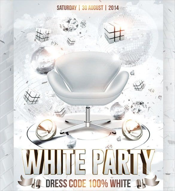 Party Flyer Template Free PSD EPS Format Download Free - All white party invitations templates