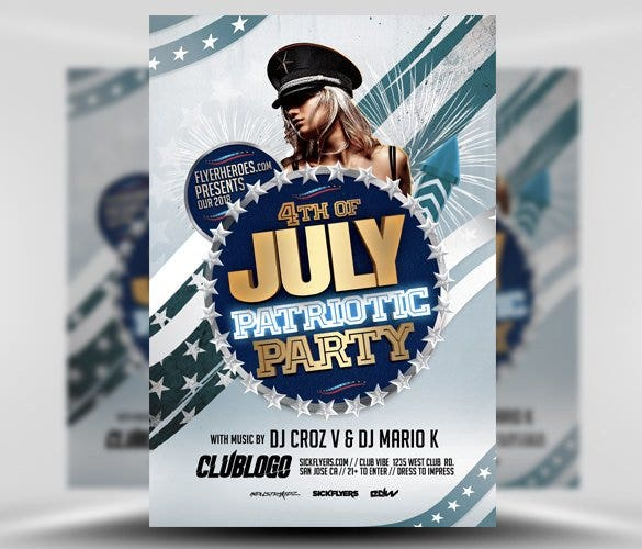 patriotic party flyer template psd design download11