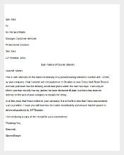 Sample Customer complaint letter