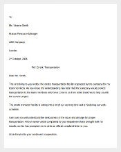 Example Employee Complaint Letter