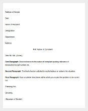 Free Employee Complaint Letter