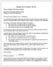 Business Complaint Letter Sample