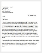 Example Environment Complaint Letter
