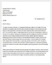 Example Environment Complaint Letter