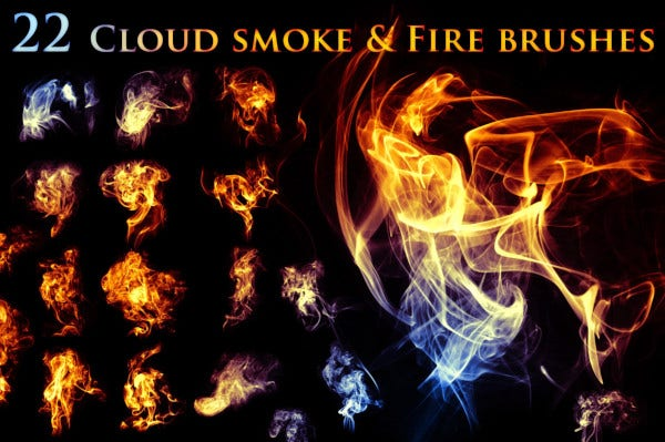22 cloudy smoke fire brushes