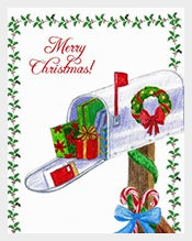 Mail-Postcard-Template-Christmas-Wishes
