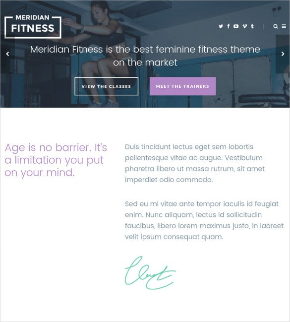 meridian fitness fitnessgym wordpress theme