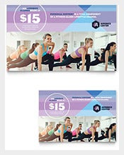Aerobics-Center-Postcard-Template
