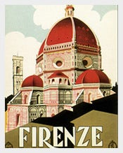 Travel-Florence--Italy-Church--Postcard