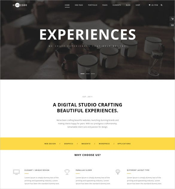 h code responsive multipurpose wordpress theme
