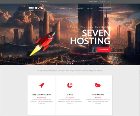 joomla responsive hosting html 5 template