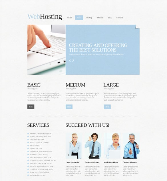 creating hosting joomla html 5 template