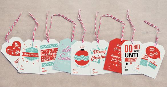9 christmas gift tags template