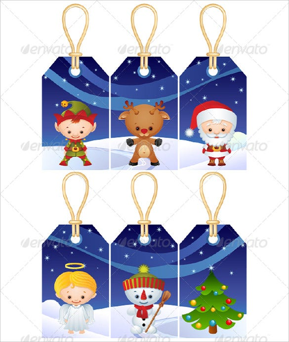 These Christmas Gift tags are ideal for tagging gifts for children ...