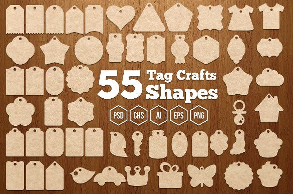 55 tag crafts shapes gift tags template