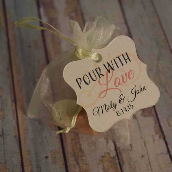 personalized custom gift tag template