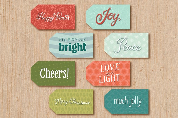 printable holiday gift tags template