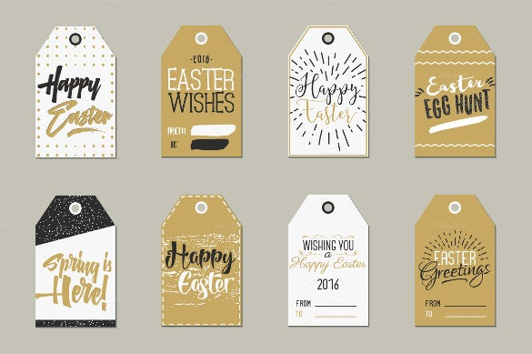 easter gift tags collection template download