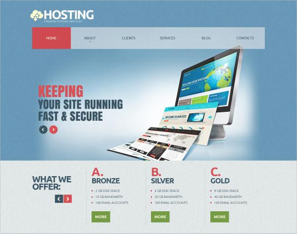 hosting joomla responsive html 5 template