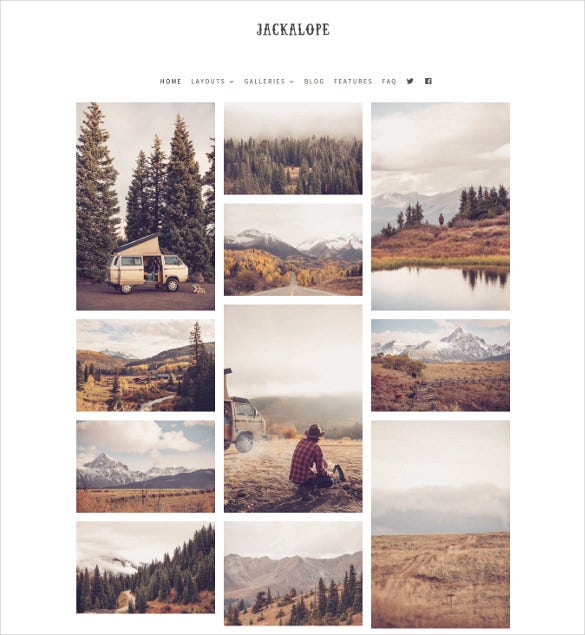 minimal photography wordpress theme jackalop