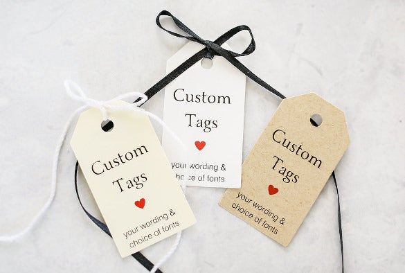 gift tag with a custom saying template