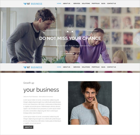 nt business wordpress theme