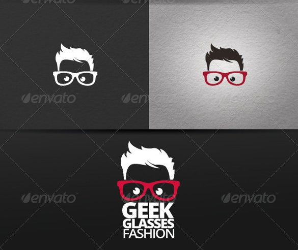 geek glasses fashion logo
