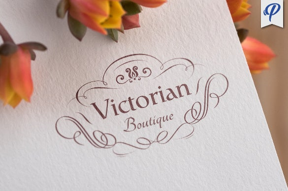 victorian boutique logo template download