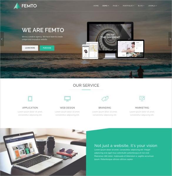 femto responsive multipurpose joomla template
