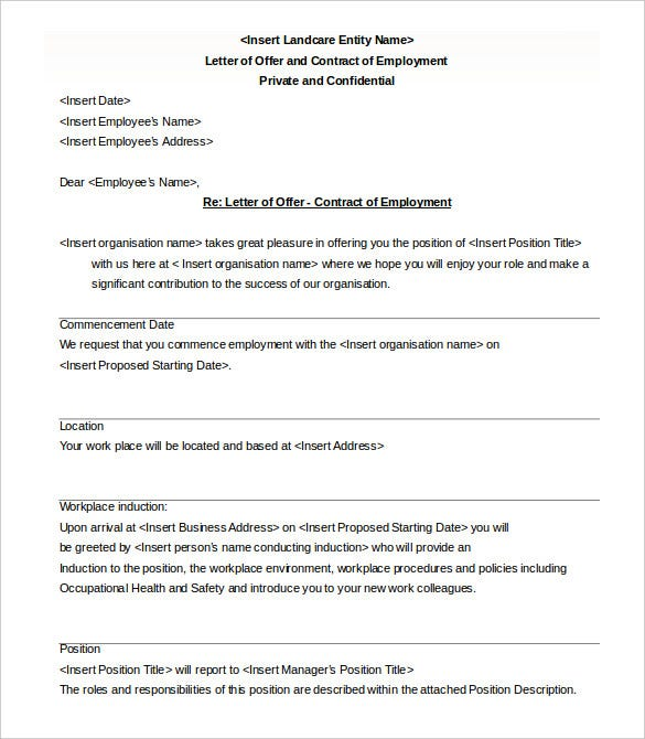 Appointment Letter Format Contract Basis appointment letter – Format for Contract