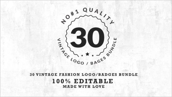 30 vintage fashion logos