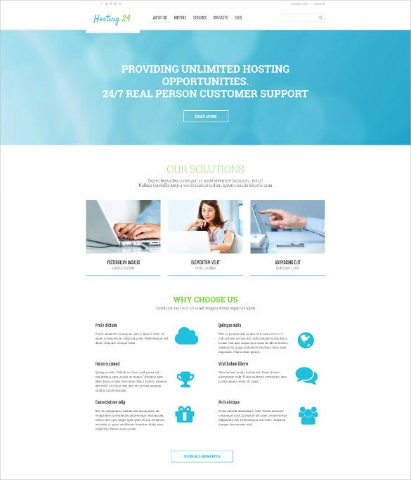 hosting responsive wordpress blogtheme
