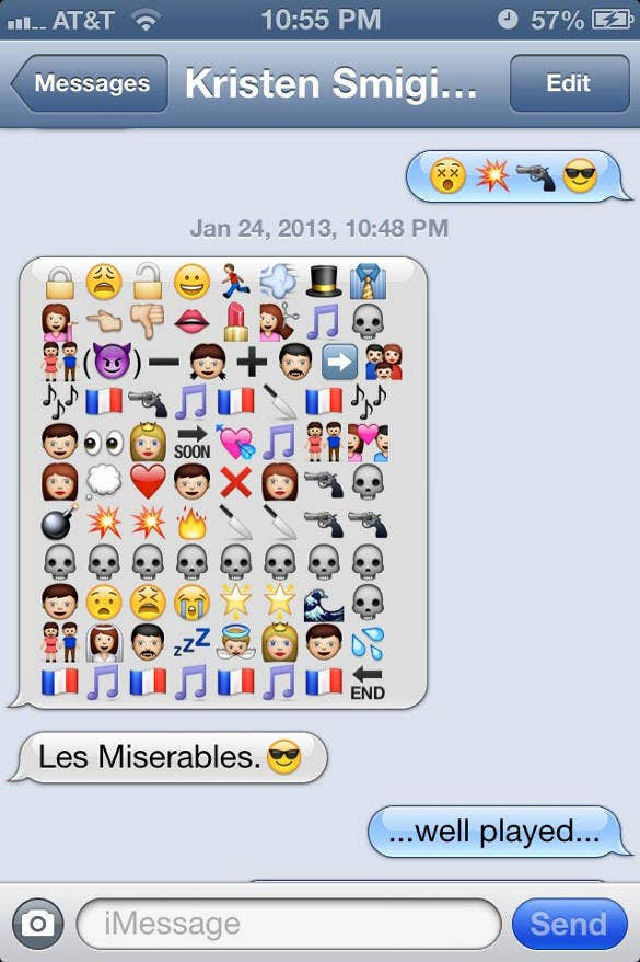 love story by emoji text1