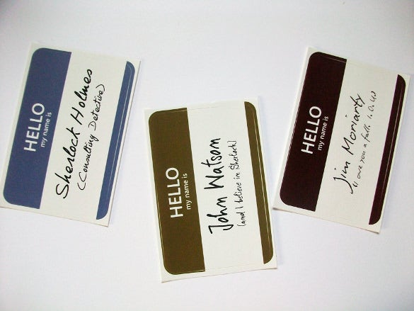 Name Tag Templates Free Sample Example Format Download - Small name tag template