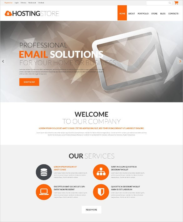 hosting business blog theme