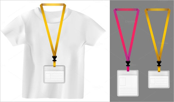 Name Tag Templates Free Sample Example Format Download - Free lanyard template
