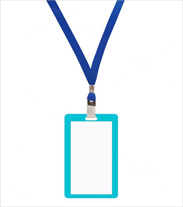badge with blue name tag template