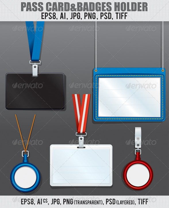 badge and name tag holder template
